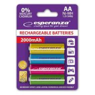 Аккумулятор ESPERANZA Mix Colors AA 2000mAh 4шт/уп (EZA108)