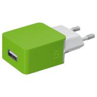 Сетевое зарядное устройство TRUST Urban Smart Wall Charger Lime Green