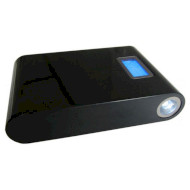 Портативное зарядное устройство SMARTFORTEC PBK-12000-LCD Black (12000mAh)