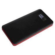 Портативное зарядное устройство SMARTFORTEC PBK-12000-LCD Black/Red (12000mAh)