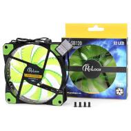 Кулер для корпуса PROLOGIX 3+4-pin Green LED (PLF-SB120G4)