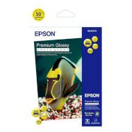Фотобумага EPSON Premium Glossy 13x18см 255г/м² 50л (C13S041875)