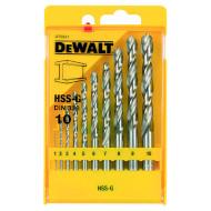 Набор свёрл по металлу DEWALT HSS-G 1-10мм 10шт (DT5921)