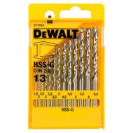 Набор свёрл по металлу DEWALT HSS-G 1.5-6.5мм 13шт (DT5922)