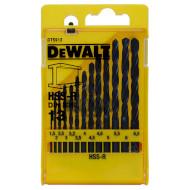 Набор свёрл по металлу DEWALT HSS-R 1.5-6.5мм 13шт (DT5912)