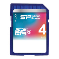 Карта памяти SILICON POWER SDHC 4GB Class 4 (SP004GBSDH004V10)