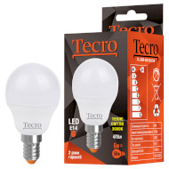 Лампочка LED TECRO TL G45 E14 6W 3000K 220V (TL-G45-6W-3K-E14)