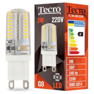 Лампочка LED TECRO TL G9 3W 4100K 220V