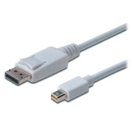 Кабель ASSMANN DisplayPort - Mini DisplayPort 1м White (AK-340102-010-W)