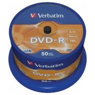 DVD-R VERBATIM Matt Silver 4.7GB 16x 120min 50pcs/spindle (43548)
