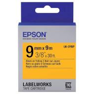 Стрічка EPSON LK-3YBP 9mm Black on Yellow Pastel (C53S653002)