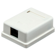 Розетка настенная для наружной проводки LOGICPOWER Cat.5e RJ-45 UTP (LP-212)