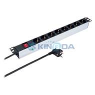 Блок розеток KINGDA KD-PDU-GM-1U-P8 8 розеток