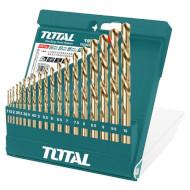 Набор свёрл по металлу TOTAL 1-10мм 19шт (TACSD0195)