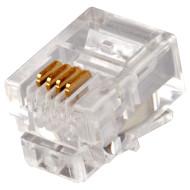 Коннектор LOGICFOX RJ-11 100шт/уп (2772)