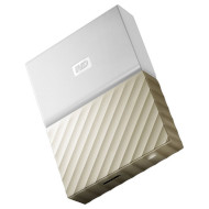 Портативный жёсткий диск WD My Passport Ultra 4TB USB3.0 White/Gold (WDBFKT0040BGD-WESN)