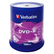 DVD+R VERBATIM Matt Silver 4.7GB 16x 120min 100pcs/spindle (43551)