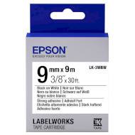 Лента EPSON LK-3WBW 9mm Black on White Strong Adhesive (C53S653007)