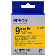 Лента EPSON LK-3YBW 9mm Black on Yellow Strong Adhesive (C53S653005)