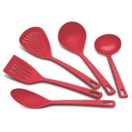 Набор кухонных аксессуаров TRAMONTINA Utilita Red 5пр (25099/704)