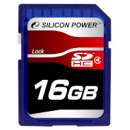 Карта памяти SILICON POWER SDHC 16GB Class 4 (SP016GBSDH004V10)