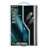Кабель BELKIN ProHD 1000 HDMI 1м Black (AV10000QP1M)