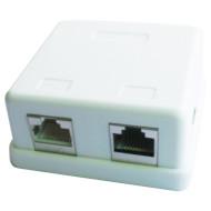 Розетка настенная для наружной проводки CABLEXPERT Cat.5e 2xRJ-45 FTP (NCAC-HS-SMB2)