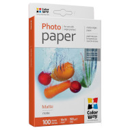 Фотопапір COLORWAY Matte 10x15см 190г/м² 100л (PM1901004R)