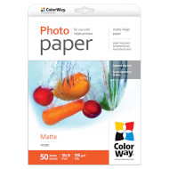 Фотопапір COLORWAY Matte 10x15см 190г/м² 50л (PM1900504R)