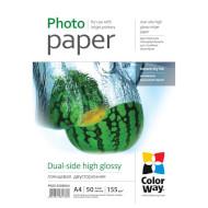 Папір двосторонній COLORWAY Dual-Side High Glossy A4 155г/м² 50л (PGD155050A4)
