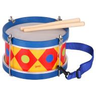 Детский музыкальный инструмент GOKI барабан с шлейкой синий (61982G)