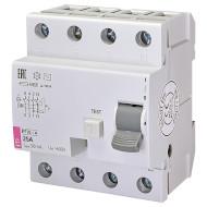 Дифференциальный автоматический выключатель ETI EFI6-4 AC 25/0.03 (2062137)
