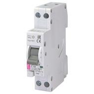 Дифференциальный автоматический выключатель ETI KZS-1M-SUP 1p+N A C10/0.01 (2175852)