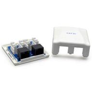 Розетка настінна для зовнішньої проводки CABLEXPERT Cat.5e 2xRJ-45 UTP (NCAC-2U5E-01)