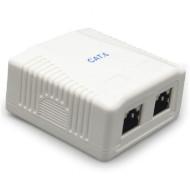 Розетка настінна для зовнішньої проводки CABLEXPERT Cat.6 2xRJ-45 FTP (NCAC-2F6-01)