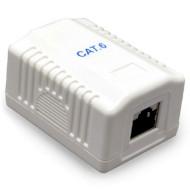 Розетка настінна для зовнішньої проводки CABLEXPERT Cat.6 RJ-45 FTP (NCAC-1F6-01)
