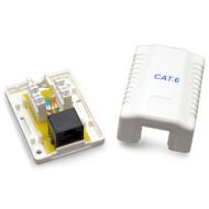 Розетка настенная для наружной проводки CABLEXPERT Cat.6 RJ-45 UTP (NCAC-1U6-01)
