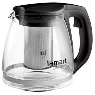 Чайник заварочный LAMART Verre Black 1.1л (LT7025)