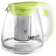 Чайник заварочный LAMART Verre Green 1.1л (LT7026)
