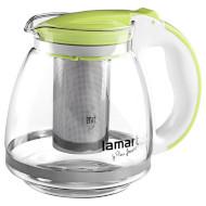 Чайник заварочный LAMART Verre Green 1.5л (LT7028)