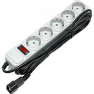 Сетевой фильтр-удлинитель для ИБП GEMBIRD SPG5-X-6G Gray 1.8м