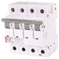 Выключатель автоматический ETI ETIMAT 6 3p+N C63 (2146522)
