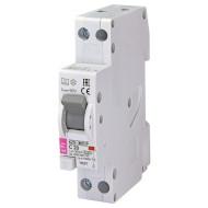 Дифференциальный автоматический выключатель ETI KZS-1M-SUP 1p+N A C20/0.03 (2175725)