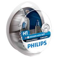 Лампа галогенная PHILIPS DiamondVision H1 2шт (12258DVS2)