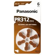 Батарейка для слухового аппарата PANASONIC PR312/PR41 6шт
