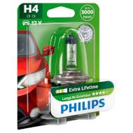 Лампа галогенная PHILIPS LongLife EcoVision H4 1шт (12342LLECOB1)