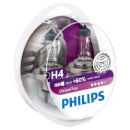 Лампа галогенная PHILIPS VisionPlus H4 2шт (12342VPS2)