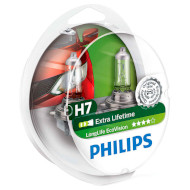 Лампа галогенова PHILIPS LongLife EcoVision H7 2шт (12972LLECOS2)