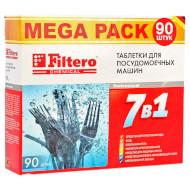 Таблетки FILTERO для посудомоечной машины 7-in-1 (90 шт)