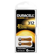 Батарейка для слухового апарату DURACELL EasyTab 312 6шт (5004325)